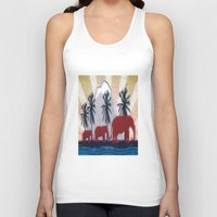 elephants Tank Tops featuring Elephants by LoRo  Art & Pictures