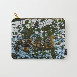 Little Quackers: Mother and Ducklings (Chicago North Pond Collection) Carry-All Pouch