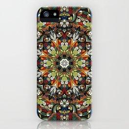 Boho Geometric Mandela Pattern 1 iPhone Case
