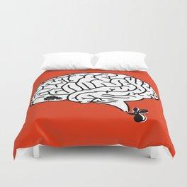 Brain Labyrinth Duvet Cover