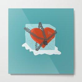 frozen heart Metal Print