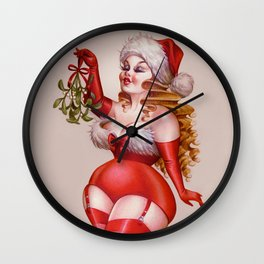 Mistletoe Alert Wall Clock