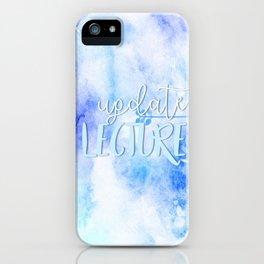 update lecture iPhone Case