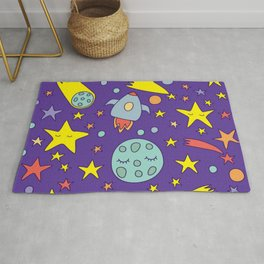 Card with lovely planets Rug