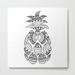 Ornate pineapple Metal Print