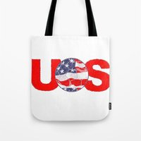soccer Tote Bags featuring USA Soccer by Bunhugger Design