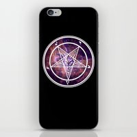 pentagram iPhone & iPod Skins featuring Pentagram Galaxy by Parin Cashmony