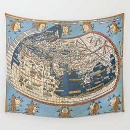 World map 1492 Wall Tapestry