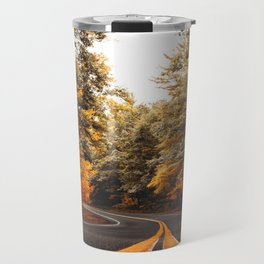 on the road in vermont Travel Mug