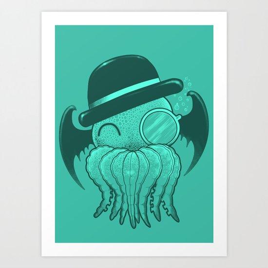 Classy Cthulhu  Art Print