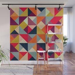 Bright Geometric Happy Pattern Wall Mural