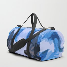 Winter Flowers in an Artic Storm Frozen in Time and Space Duffle Bag