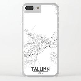 Minimal City Maps - Map Of Tallinn, Estonia. Clear iPhone Case