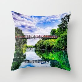 Barton Springs Bridge Throw Pillow