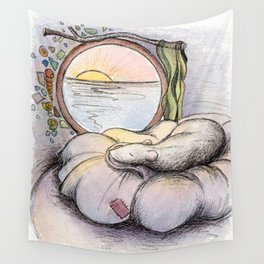 Nap Time, Illustration Wall Tapestry