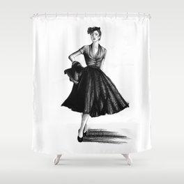 Fashion 1950 Shower Curtain
