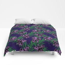 Orchid Skulls Comforters