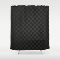 lv Shower Curtains featuring LV - LV pattern by Inara