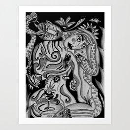Snaked Art Print