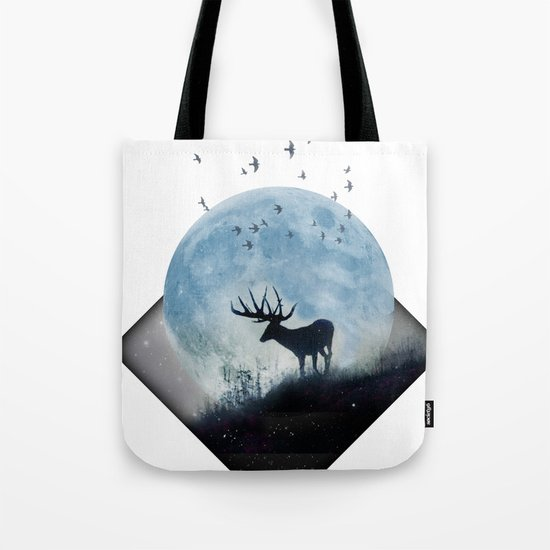 blue moon spill Tote Bag