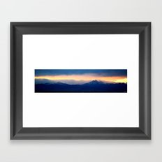Longs Peak Powder Framed Art Print