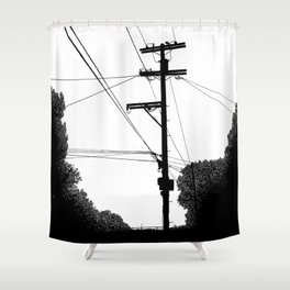 Power Lines at the bluff Shower Curtain