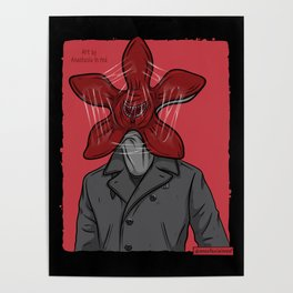 Creature in a coat Poster