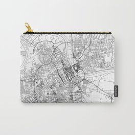 Nashville City Map United States White and Black Carry-All Pouch