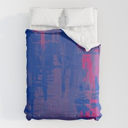 Bisexual Pride Rough Crosshatched Paint Strokes Comforters