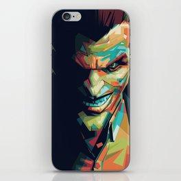 Joker Pop Art Portrait iPhone Skin