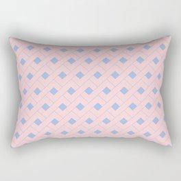 Rose Quartz and Serenity Geometric Rectangular Pillow