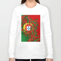 portugal Long Sleeve T-shirts featuring Portugal by Danny Ivan