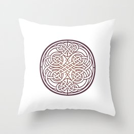 St. Patrick's Day Celtic Red Mandala #1 Throw Pillow