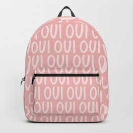 Oui Oui French Pink Hand Lettering Backpack