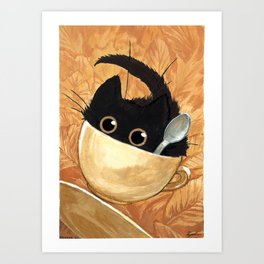 Café Kitty - Fall Art Print