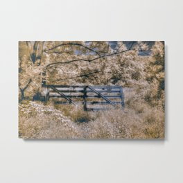 Infrared Fence Metal Print