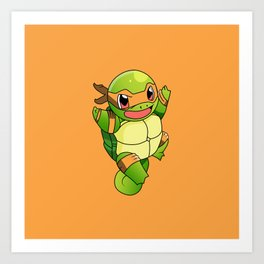 TMNT_POKET_MONSTER_orange Art Print