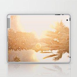 California Fine Art Print Yellow, Peach, Cream La Quinta Palm Tree Photograph - Desert Sunset  Laptop & iPad Skin