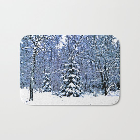 Winter forest II Bath Mat