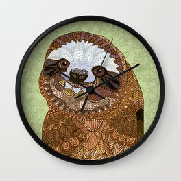 Smiling Sloth Wall Clock