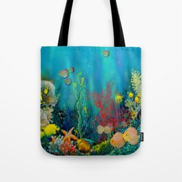Undersea Art With Coral Tote Bag