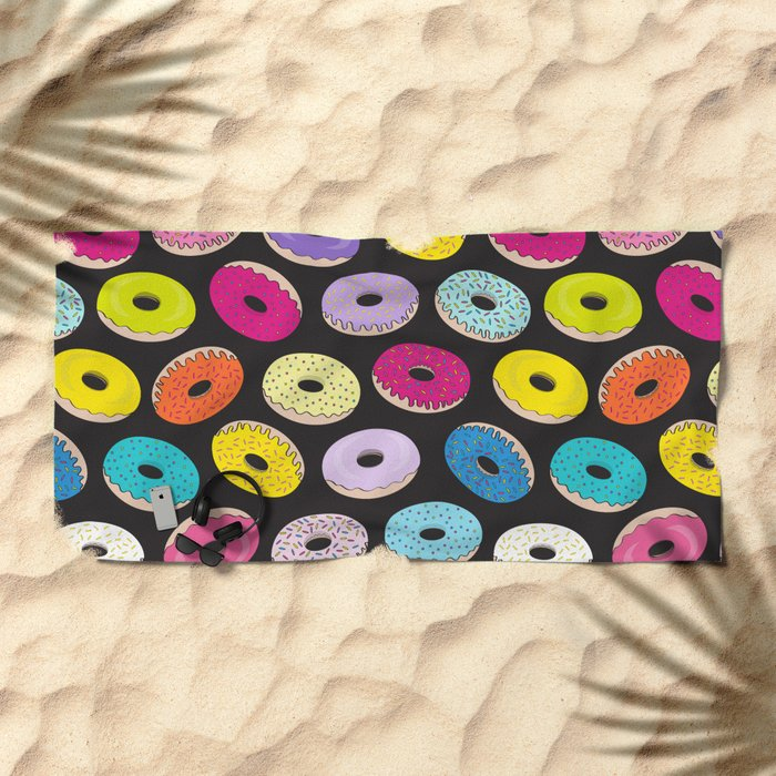 Donut Dreams by Everett Co Beach Towel