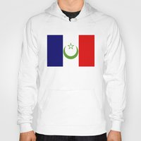 casablanca Hoodies featuring French Morocco flag by tony tudor