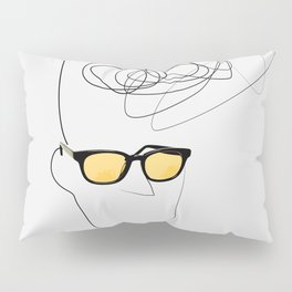 Unknown Man Portrait With Cool Haircut Pillow Sham