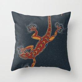 Pointillizard Throw Pillow