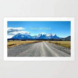 Torres del Paine - Chile Art Print