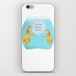 There Were Two Goldfish In A Tank iPhone Skin