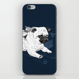 Flying Pug iPhone & iPod Skin