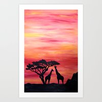 africa Art Prints featuring Africa by Monica Georg-Buller