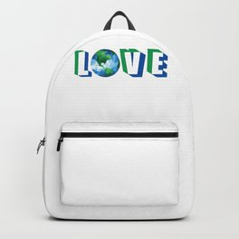 Love our Planet Earth Day Backpack